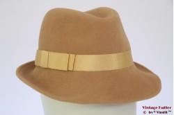 Ladies fedora beige 54,5 (XS)