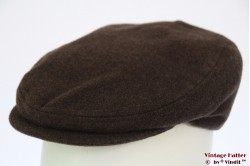 Flatcap BestQuality dark brown 56,5