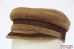 Captain's cap beige brown corduroy 56
