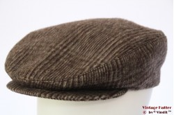 Flatcap GMT brown grey wool 56,5
