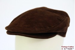 Flatcap BestQuality brown suede 58
