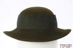 Ladies hat Mayser green felt 55 (S)
