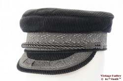 Captain's cap Prinz Heinrich dark grey corduroy 56