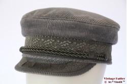 Captain's cap Prinz Heinrich light grey corduroy 58,5