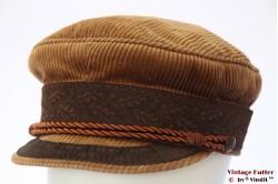 Kapiteinspet Prinz Heinrich caramel beige bruin ribfluweel 58