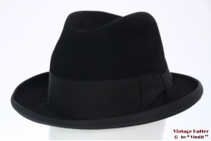 Homburg Stanton Hats black felt 57
