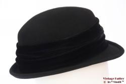 Ladies hat Canda black with velvet band 57