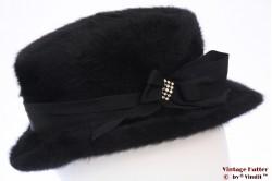 Ladies hat J.Schmidt black fur felt 55 (S)