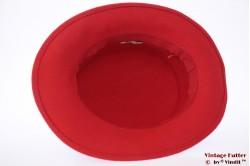 Dameshoed rood met donker grijze band 56