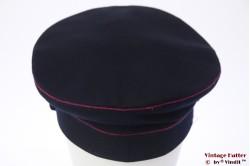 Uniform pet VEB (DDR) donker blauw met roze bies 56