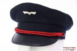 Uniform cap railway emblem dark blue 54 (XS)