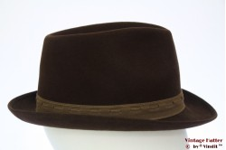 Fedora Mayser dark brown felt 57