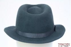Ladies hat soft blue fur felt 55
