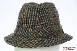 Fisherman hat grey and blue tweed 55