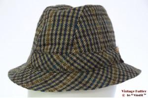 Fisherman hat grey and blue tweed 55