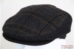Flatcap grey & brown with earwarmer 53