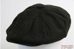 Paperboy pet Hawkins groen zwart vissengraat tweed 60 [nieuw]