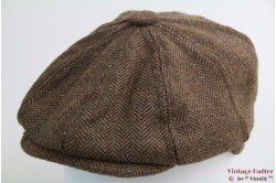 Paperboy pet Hawkins beige bruin vissengraat tweed 60 [nieuw]