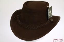 Australian Outdoor hat Mongo brown leather 62 [new]