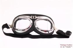 Motor of Vliegeniers bril (Goggles) Helder 2-delig glas