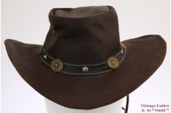Western hat brown leather 54