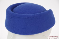 Stewardess pillbox hat blue 54-59 [new]