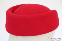 Stewardess pillbox hat red 54-59 [new]