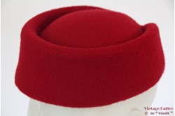 Stewardess pillbox hat dark red 54-59 [new]