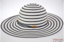 Beach hat Hawkins white with blue 57 [new]